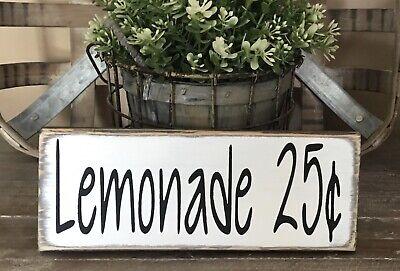 Farmhouse Wood Sign Lemonade 25¢ Home Decor Kitchen Welcome Tier Tray Lemon 🍋🍋](Lemonade Signs)