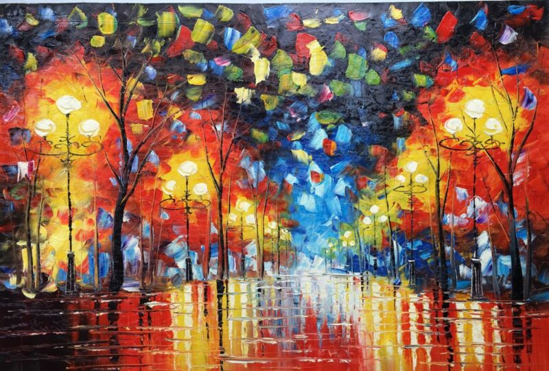 Oil+Painting+Hand+Painted%2CRain+Night%2C+91+X+61+cm%2C+A09