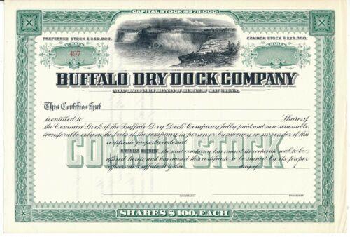 Buffalo Dry Dock Co. Stock Certificate, American Bank Note Co. Niagara Falls