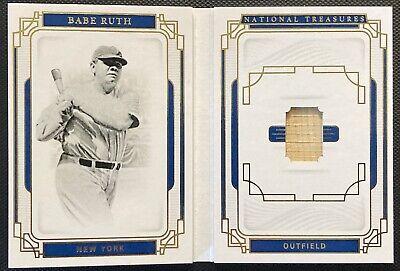 2019 National Treasures Book Legends Materials Babe Ruth bat #08/25.