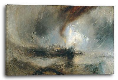 William Turner (Lein-Wand-Bild Kunstdruck: William Turner Snow Storm, Steam-Boat off a Harbour's)
