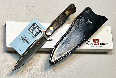 Vintage 1980' Al Mar Sidekick Seki Japan Dagger Knife Sheath Case Paper Mint