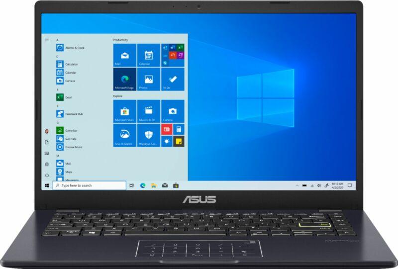 "ASUS - 14.0"" Laptop - Intel Celeron N4020 - 4GB Memory - 128GB eMMC - Blue"