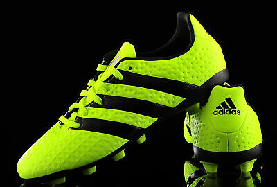 Kids Boys adidas 17.4 FXG White Volt Junior Moulded Studs Football Boots New