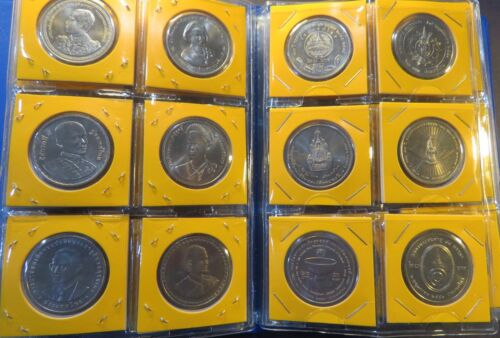 Thailand 20 Baht Coin Set Rama 9 IX & 10 1995 - 2019 Uncirculated 72 Coins Thai