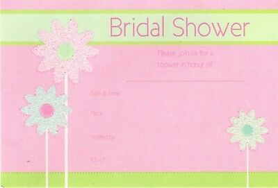 Sparking Daisy Flowers Bridal Shower Invitations 8 ct includes envelopes