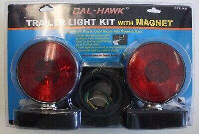 12v Magnetic Base Trailer Light Kit 20ft Wire Towingtrailer Camper Flat Bed