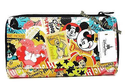Disney Parks Mickey Minnie and Friends Characters and Icons Collage Wallet (NEW)