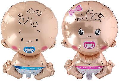 Baby Boy Ballon (Folienballon Baby XL Junge Mädchen ca. 58 x 37 cm Babyluftballon Boy Girl)