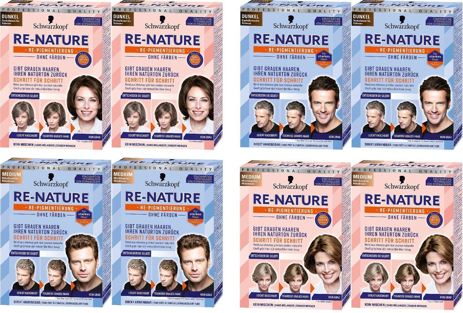 2 x Schwarzkopf RE-NATURE - Anti Gray Hair Natural Coloring