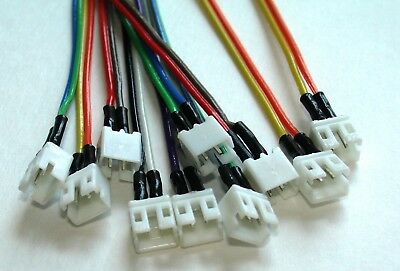 120 Mini Plugs - 5 Mini Micro JST 2.0 PH 2-Pin MALE Connector Plug With 120mm  Cables