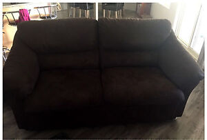 Chocolate Suede Sofa Couches Busselton Busselton Area Preview