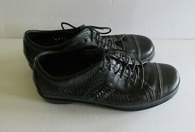 Aetrex Brown Oxford - Aetrex Essence Diana EL70W Brown Leather Oxford Lace Up Size 9.5 W (b97)
