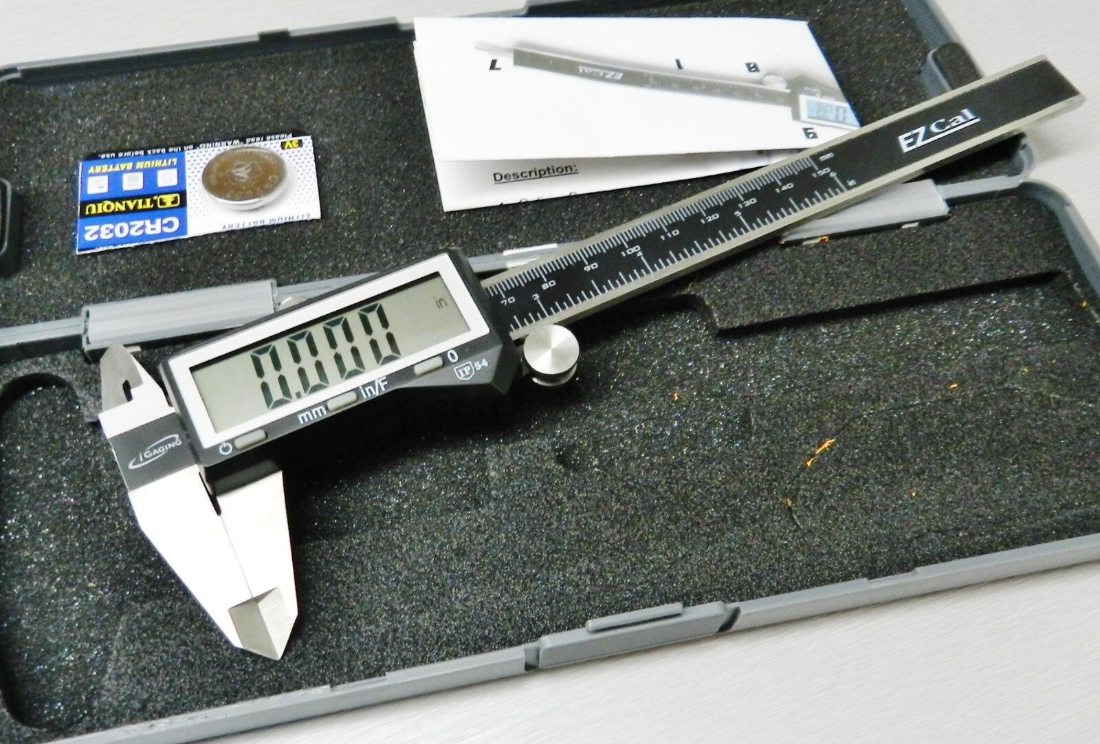 Купить iGAGING DIGITAL - iGaging Digital Electronic Caliper 6 Precision 3 Way Reading Large LCD EZ Cal B