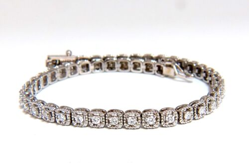 1.08ct Diamonds Tennis Bracelet 14 Karat Box & Rope Twist