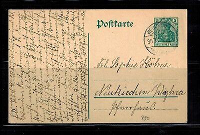 Deutsches Reich Postkarte P 90 nach Neukirchen -int.Nr.122