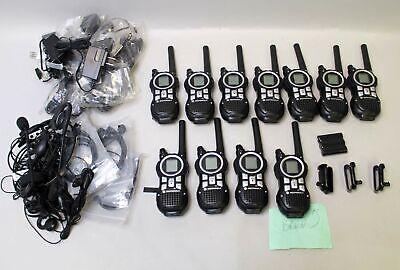 Lot Of 10 Motorola Mr350r 35-mile Two Way Radios W Extras - Please Read