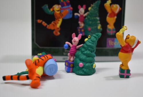 Hallmark Tree Trimmin Trio 1998 Miniature Ornament Winnie the Pooh Tigger Piglet