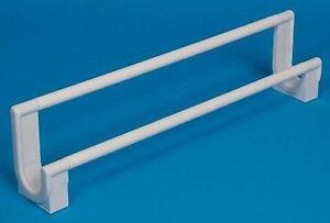 Pims White Plastic Double Towel Rail