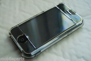 Transparent Crystal Case with Detachable Screen Protector for Apple iPhone 2G