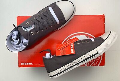 BNIB Diesel Only The Brave Canvas Pumps Trainers 7 STM-271-G Guaranteed Genuine