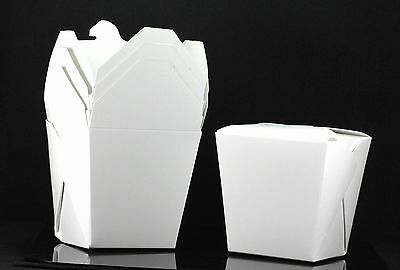 100x 26oz Chinese Take Out To Go Boxes Microwavable Gift Boxes White