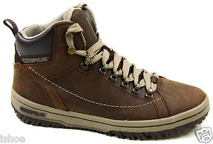 MENS CATERPILLAR CAT APA HI LEATHER CASUAL WALKING LACE ANKLE BOOTS SIZE UK 6-12
