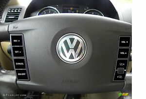 2004–2009 VW Volkswagen Touareg Steering Wheel Matte Black Button Repair decals