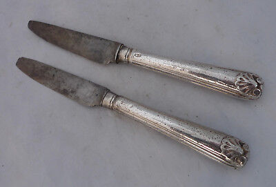 Two Georgian Silver Starter Knives Mary Chawner London c1835 AF A6755