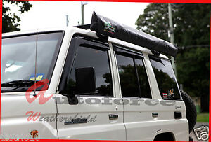 TOYOTA LANDCRUISER 76 SERIES 4 DOOR WEATHER SHIELD WEATHERSHIELDS WINDOW VISOR