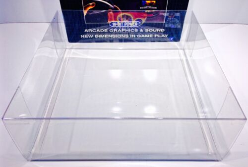 1 Console Box Protector For Most SEGA GENESIS Model 1 (CHECK SIZE)  Clear Boxes