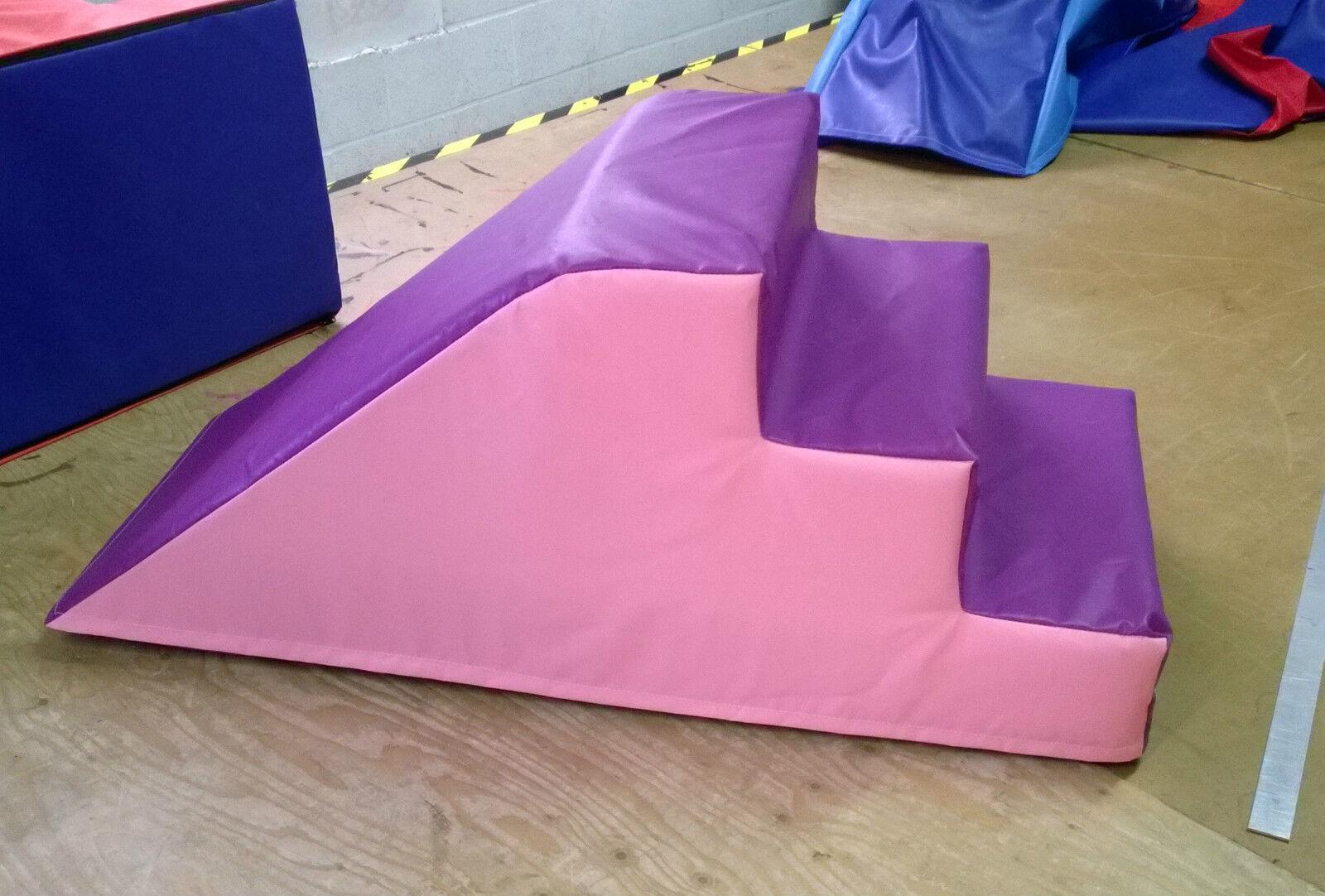 Light Pink / Purple  Soft Play Step & Slide  120cm x 50cm x 50cm