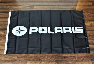 Used, Polaris Black Banner Flag Off Road Vehicle Racing 4 Wheeler Jet Ski USA Shipper for sale  Shipping to Canada