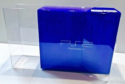 1 Console Box Protector For PLAYSTATION 2 PS2 FAT Blue Box Size  Display Case