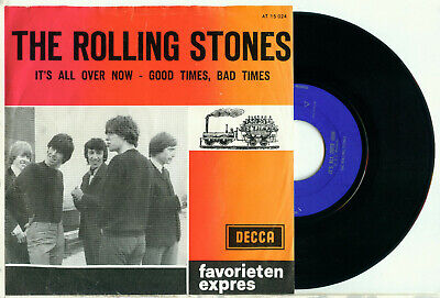 the ROLLING STONES - It's All Over Now (1964 DUTCH Fav. Expres PS VINYL 7