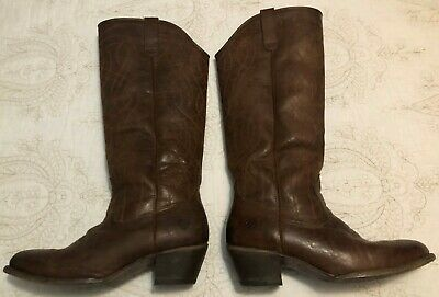 Ladies Spot On brown synthetic mid calf length boots faux fur inners F5740
