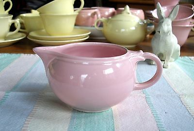 Vintage TS&T Lu-Ray Pastels Pink Creamer ~