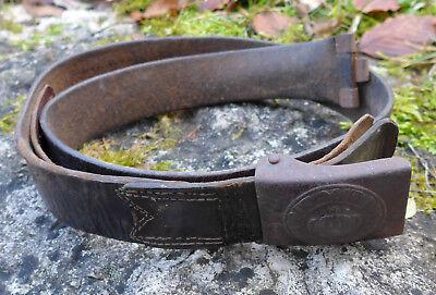Koppelschloss Preussen Eisen mit Lederriemen original Dachbdenfund