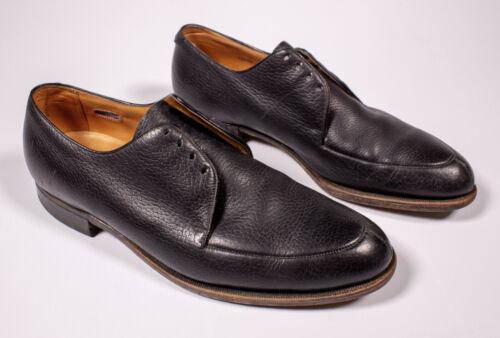 Vintage 1969 The Florsheim The Glenfield Black Dolce Calf Dress Shoe Black 10.5