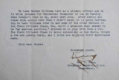 Signed Letter from Brig. Gen., Dist. Service Cross Recipient, Edward King