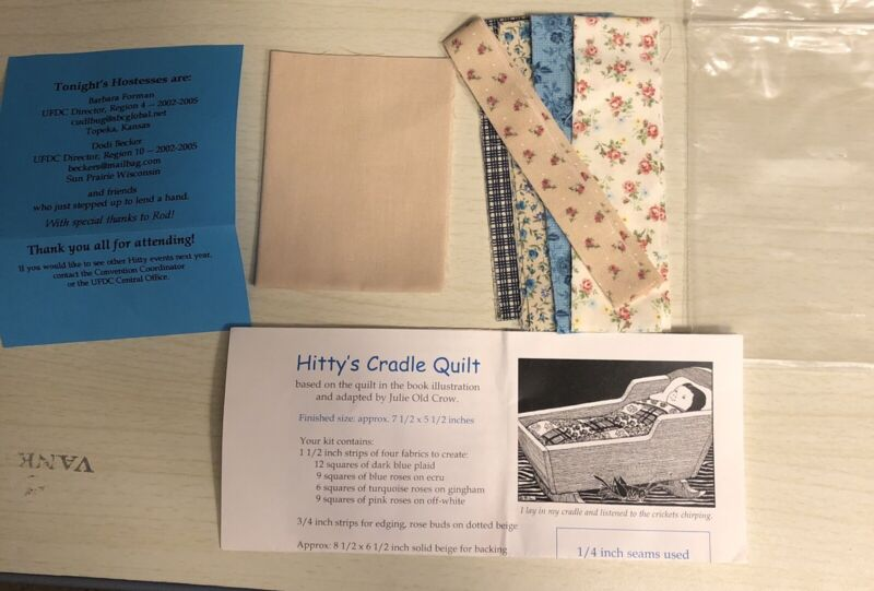 Hitty Doll Cradle Quilt  Kit UFDC Julie Old Crow Miniature Artist