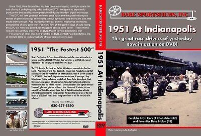 1951 Indianapolis 500, Lee Wallard in color on DVD!