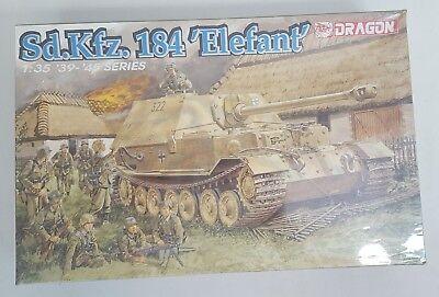 Dragon Sd Kfz 184 ELEFANT German Tank 1/35 Plastic Model Kit 6126 / SEALED