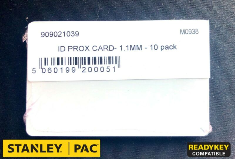 Stanley PAC Readykey 153KHZ ISO PROXIMITY CARD (10 pack) 7S-K2011B or 909021039