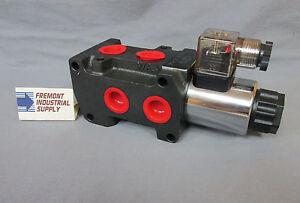 Hydraulic solenoid operated selector diverter valve 12 volt DC or 24 volt DC