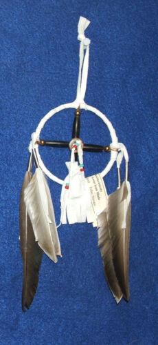 "Medicine Wheel & Med Bag combo 3"" dia hoop Native American  CH02"