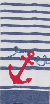 Kay Dee Designs ANCHORS AWAY Embroidered Kitchen/Tea Towel