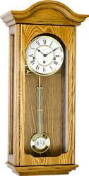 (New!) BROOKE (Oak) Chiming Wall Regulator Clock 70815-I90341 by Hermle Clocks