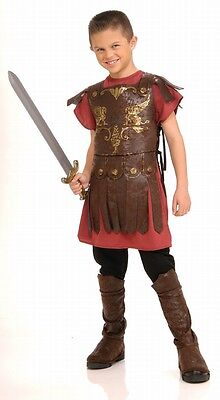 Kids Gladiator Costume Roman Soldier Historical Costume Child Size Medium 8-10