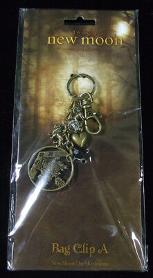 Twilight Saga New Moon Crest Charm Bag Clip A NIP